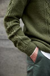 Novita Merino 4 PLY: Aarni textured knit sweater