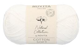 Novita Cotton Soft-011 valkoinen