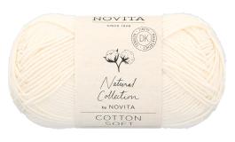 Novita Cotton Soft-010 luonnonvalkoinen