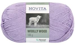 Novita Woolly Wood-730 blåbärsmjölk