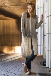 Women's Cabled Cardigan Novita Nordic Wool