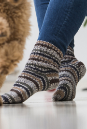 Knitted basic wool socks Novita Venla Nature or Venla
