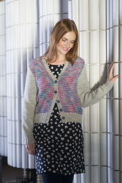 Women's textured cardigan Novita 7 Veljestä and 7 Veljestä Polaris