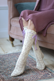 Women's lace socks Novita Venla
