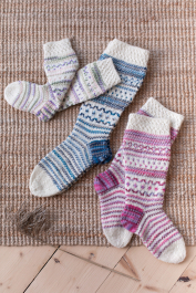 Colourwork socks Novita Nalle and Nalle Taika