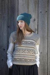 Womans Fair Isle Vest Novita 7 Veljestä
