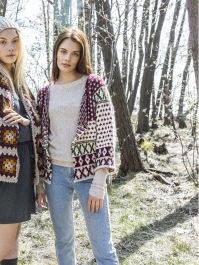 Women's Colourwork Cardigan Novita 7 Veljestä
