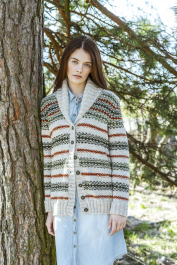 Women's Colourwork Cardigan Novita Nalle and Nalle Taika