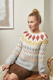 Women's colourwork sweater Novita Wool Cotton