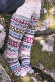 """My Story"" long knitted socks Novita 7 Veljestä"