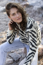 Women's Zebra sweater Novita Natura