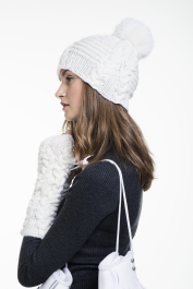 Womans Cable Hat Novita Alpaca Wool