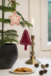 Knitted and Felted Star Ornament Novita Natura