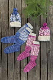 Women's and Men's Colourwork Socks Novita Nalle Taika ja Nalle