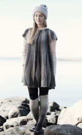 Women's knitted dress Novita Nordic Wool and Nordic Wool Flow