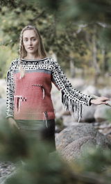 Women's colourwork sweater Novita Nordic Wool