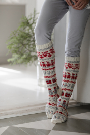 Christmas socks Novita Venla and Baby Merino