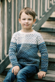 Harri colourwork sweater Novita Nalle Taika and Nalle
