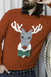 Men's Reindeer sweater Novita Nalle