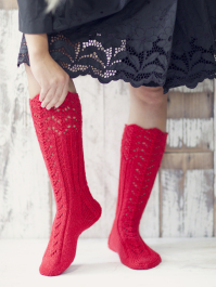 Womans Long Lace Socks Novita 7 Veljestä (7 Brothers)