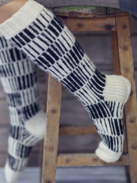 Vertically Striped Socks Novita Nalle (Teddy Bear)