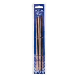 Novita birch double pointed cubic needles 20 cm-3.0 mm