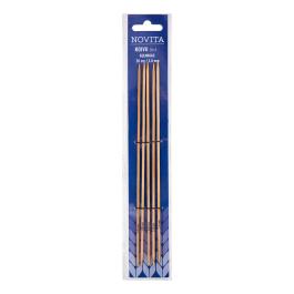 Novita birch double pointed cubic needles 20 cm-3.0 mm