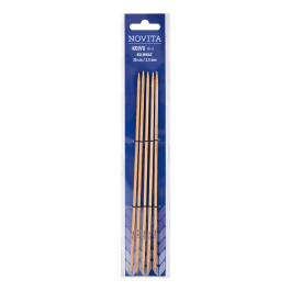 Novita birch double pointed cubic needles 20 cm