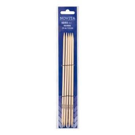Novita birch double pointed cubic needles 20 cm-5.0 mm