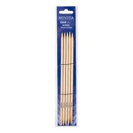 Novita birch double pointed cubic needles 20 cm-6.0 mm