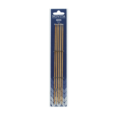 Novita double-pointed 20 cm birch -2.5 mm