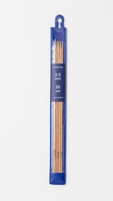 Novita Strumpfstricknadeln 20 cm Birke 2.0