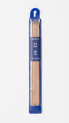 Novita double-pointed 20 cm birch -3.5 mm