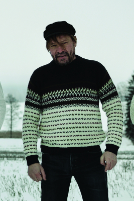 Men's colourwork sweater Novita 7 Veljestä
