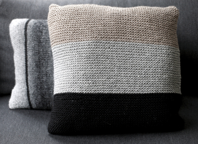 Garter stitch pillow case Novita Isoveli