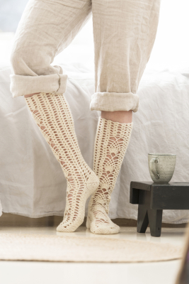 Long crocheted socks Novita Venla