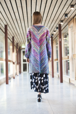Women's Cardigan with Slanted Striping Novita Nalle and Nalle Taika