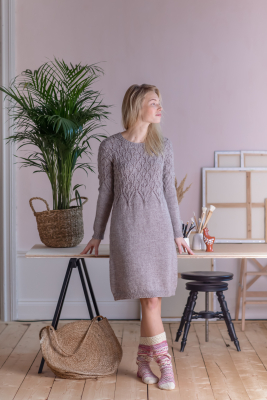Women's knitted dress Novita 7 Veljestä