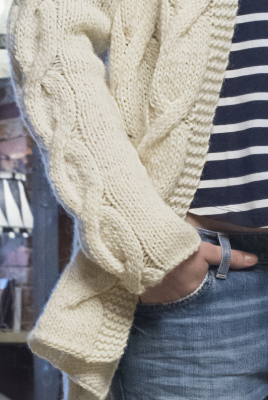 Womans Cable Cardigan Novita Natura