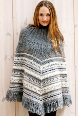 Womans Poncho Novita Joki (River)