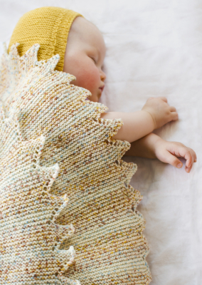 Knitted baby blanket Novita Baby Merino Dream
