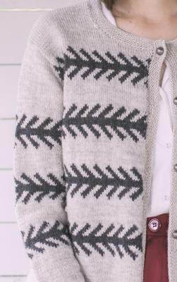 Women's colourwork cardigan Novita Nalle