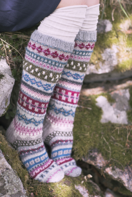 """My Story"" long knitted socks Novita 7 Veljestä"