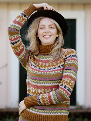 Call of the North colourwork sweater Novita Venla