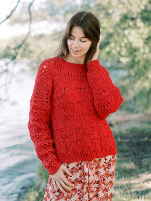 Aila knitted sweater Novita Isoveli