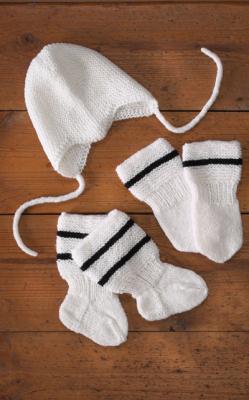 Vauvan myssy, lapaset ja sukat Novita Wool (arkistomalli)