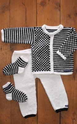Vauvan jakku, housut sukat (arkistomalli)