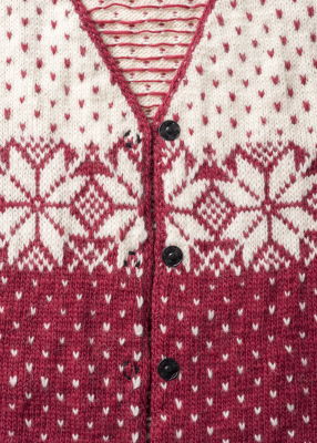 Womans Fair Isle Cardigan Novita Natura