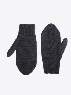 Adult´s Cable Mittens Novita Alpaca Wool