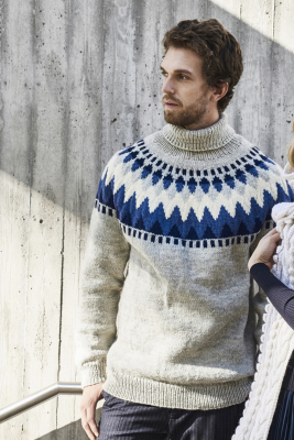 Men's Yoke Sweater Novita 7 Veljestä